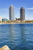Barceloneta Beach Royalty Free Stock Photography
