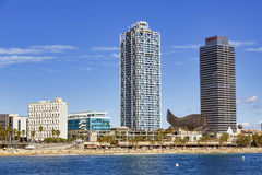 Barceloneta Beach Stock Images