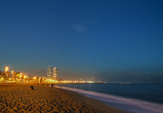 Barceloneta beach, Spain Royalty Free Stock Photography