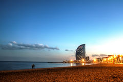 Barceloneta beach, Spain Stock Images