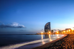 Barceloneta beach, Spain Stock Image