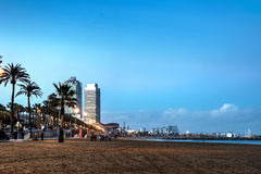Barceloneta beach, Spain Royalty Free Stock Photo