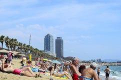 Barceloneta beach Stock Photos