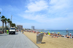 Barceloneta beach Stock Image