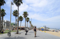 The Barceloneta beach Royalty Free Stock Photos