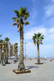 The Barceloneta beach Royalty Free Stock Photo