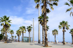 The Barceloneta beach Stock Photos