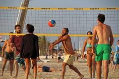Barceloneta beach volley stock images