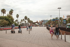 Barceloneta district, Barcelona Royalty Free Stock Images
