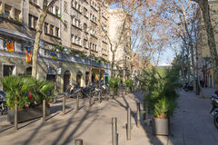 Barceloneta district of Barcelona Stock Photos