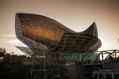 Barceloneta fish. Photography of Barceloneta sculpture in Passeig Maritim, Barcelona, Spain Royalty Free Stock Photography