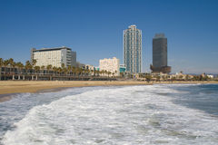 barceloneta plaża Zdjęcia Stock