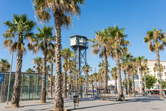 Barceloneta, the Plaza del Mar Royalty Free Stock Image