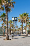 Barceloneta, the Plaza del Mar Stock Images