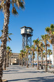 Barceloneta, the Plaza del Mar Royalty Free Stock Images