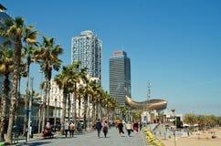 Barceloneta seafront, Barcelona stock image