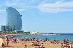Barceloneta Spanien Arkivbilder