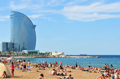 Barceloneta, Spanje Stock Afbeeldingen