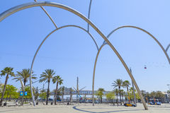 Barceloneta square Stock Photography
