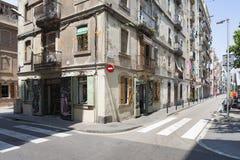 Barceloneta. Street corner of Barceloneta in Barcelona Royalty Free Stock Photos