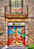 Barceloneta teren Obrazy Stock