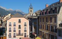 Barcelonnette (montañas francesas) foto de archivo