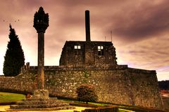 Barcelos castle stock photos