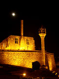 Barcelos Castle. Barcelos city castle by night under the moon light Royalty Free Stock Images