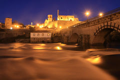 Barcelos at night time Stock Photo