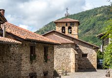 Barcena Mayor, Cabuerniga valley in Cantabria, Spain stock photography