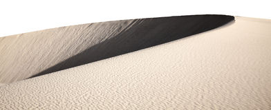 Barchan dune isolated Royalty Free Stock Image