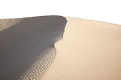 Barchan dune isolated Royalty Free Stock Images