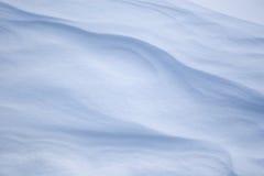 Barchans de neige. Photographie stock