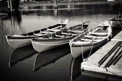 3 barche fotografia stock
