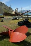 Barche abbandonate della balena di Grytviken Immagine Stock