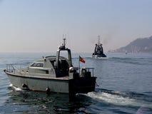 Barche al mare Fotografie Stock Libere da Diritti