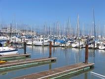 Barche al molo del pescatore, San Francisco Fotografia Stock Libera da Diritti