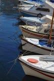 Barche al moorage Fotografia Stock