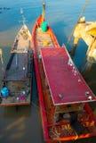 Barche al ponte Immagini Stock Libere da Diritti