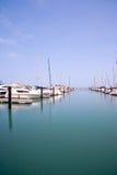 Barche al porto di Chicago Immagini Stock Libere da Diritti
