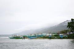 Barche alla riva Fotografia Stock