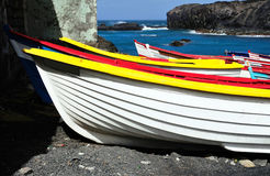 Barche alle saline Fotografie Stock