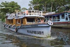 Barche in Alleppey Fotografia Stock Libera da Diritti