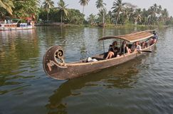 Barche   Alleppey, Kerala immagini stock