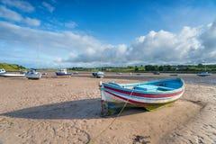 Barche a Alnmouth in Northumberland Fotografia Stock Libera da Diritti