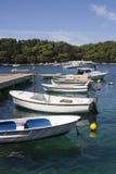 Barche attraccate Immagini Stock