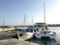 Barche attraccate Fotografie Stock