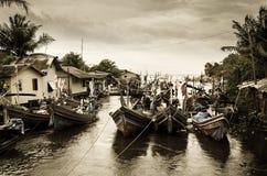 Barche in baia Immagine Stock