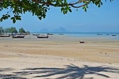 Barche a bassa marea Fotografie Stock Libere da Diritti