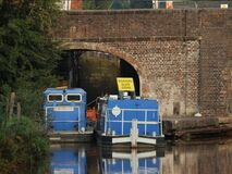 Barche in canale Fotografia Stock